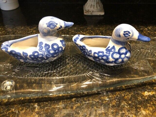 MA Hadley Pair (2) of Decorative Ducks- Very old but PERFECT! Check Signature
