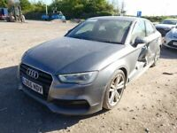 AUDI A3 8V SALOON 2015 BREAKING SPARES AIRBAG LEATHER SEATS ALLOY DOORS AXLE HUBS CORNERS