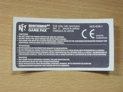 Nintendo 64 Back Label Cartridge Replacement Game Label Sticker Precut comprar usado  Enviando para Brazil