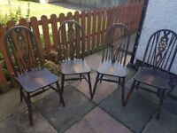 Chairs (x4) Solid dark-wood