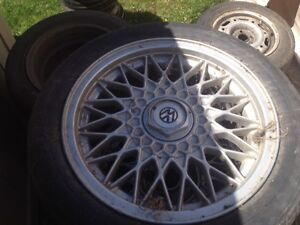Tires and Rims for 1991 Volkswagen Passat and 2001 Chev Cavalier