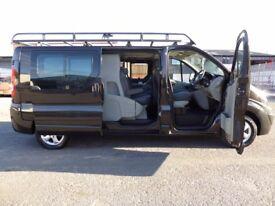 FINANCE ME!! NO VAT!! Stunning Renault Trafic lwb sport factory 6 seat crew van! only 51k!!!