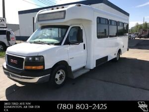 2014 GMC Savana 4500 18 Passenger Shuttle Bus Overland Van Body