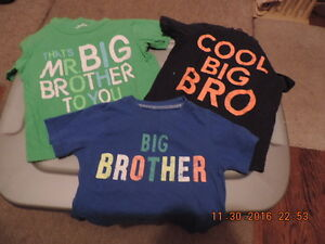 """Size 2T Carter's Brand """"Big Brother"""" T-Shirts"""