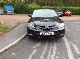 58 Reg Mazda 3 1.6 petrol FSH