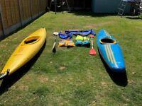 Pyranaha Master Tuffy Kayak with New Wave Paddles, Palm Jacket, Spray deck and Buoyancy aid