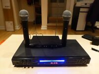 Vocal-Star 800 Multi Format Karaoke machine+ Vocal-Star Dual Wireless Microphones + over 800 songs