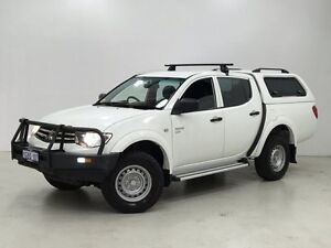 2011 Mitsubishi Triton MN MY11 GLX Double Cab White 4 Speed Automatic Utility Edgewater Joondalup Area Preview