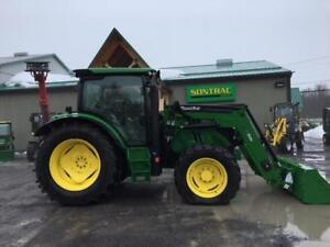 2014 JOHN DEERE 6105R - TRANS IVT - CHARGEUR QUICKEE - 2400H