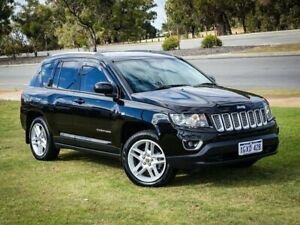 2016 Jeep Compass MK MY16 Limited CVT Auto Stick Black 6 Speed Constant Variable Wagon