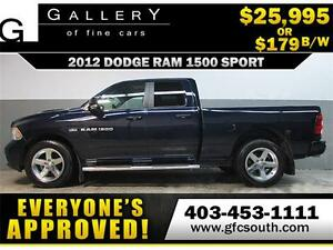 2012 DODGE RAM SPORT CREW *EVERYONE APPROVED* $0 DOWN $179/BW!
