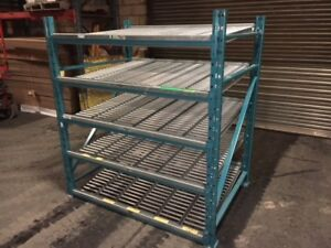 USED CARTON FLOW RACKING / SPAN TRACK / ROLLERS
