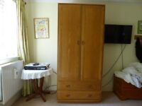 'ERCOL' Large Wardrobe with Drawers