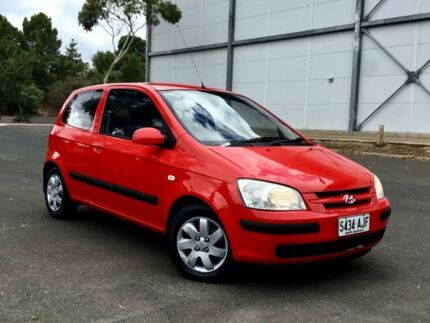 2005 Hyundai Getz TB MY06 Red 5 Speed Manual Hatchback Mile End South West Torrens Area Preview