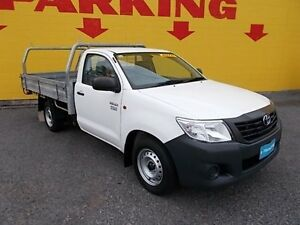 2013 Toyota Hilux TGN16R MY12 Workmate White 4 Speed Automatic Cab Chassis Winnellie Darwin City Preview