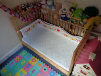 BABY COT BED WITH MATRESS IKEA