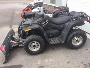 2010 Can Am Outlander 500XT with plow