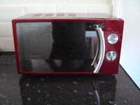 Red Manual Solo Microwave Oven Russell Hobbs Cookware & a Chrome 4 Slice Toaster