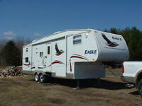 Roulotte fifth wheel 30.5 pieds+Kart de golf+cabanon