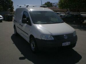 2010 Volkswagen Caddy 2K MY09 Maxi White 6 Speed Direct Shift Van Victoria Park Victoria Park Area Preview