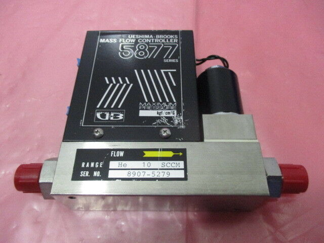 Ueshima Brooks 5877-CO Mass Flow Controller, MFC, He, 10 SCCM, 5877, 424439