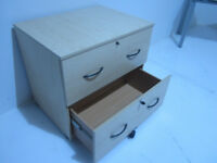 2 Draw office filing cupboards in Maple supplied with keys 8 Available