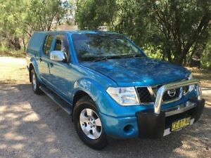 2008 Nissan Navara D40 ST-X (4x2) Blue 5 Speed Automatic Dual Cab Pick-up Coonamble Coonamble Area Preview