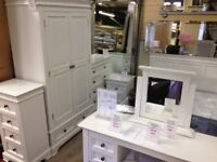 Elegant Bali Banbury white 4 drawer tallboy £249