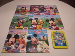 8 livres de Disney avec tablette lecture Me reader, en français