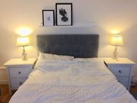 Ikea Headboard and Grey Marl Cover - similar to Rugsund model