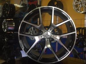 GRANDE LIQUIDATION / BIG SALE MAGS MERCEDES 5X112 19'' STAGGERED NEUFS RÉPLIQUE SLS AMG NOIR/MACHINÉ ***799$***