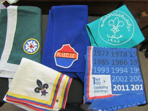 Boy Scout International Scarf Neckerchief Lot of 5     fx2  #2