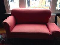 Victorian Drop End Sofa - Dark Pink Fabric