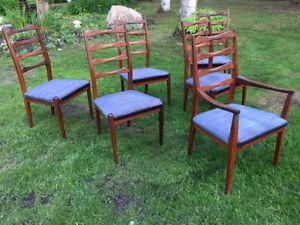Mid Century Teak Dining Chairs - Set Of Six