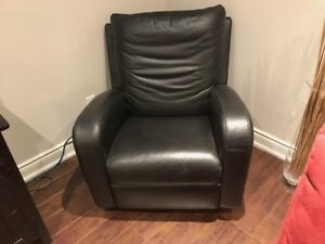 Leather Swivel-Recliner Chair