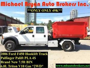 2006 FORD F450 HOOK LIFT TRUCK **ONLY 49K** VERY RARE