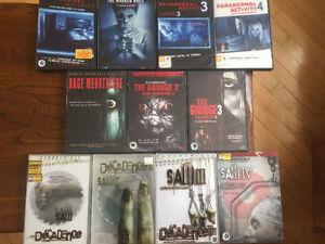Lot DVDs Suspense/Horreur