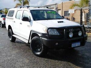 2007 Toyota Hilux KUN26R MY07 SR White 5 Speed Manual Utility Wangara Wanneroo Area Preview