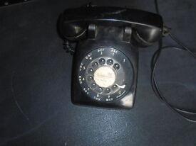 vintage original black bacolite telephone