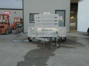 **USED** 5X8 ALUMINUM UTILITY TRAILER - SOLID SIDES, BIFOLD GATE London Ontario image 7