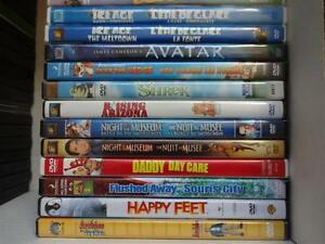 DVDs and VHSs for sale