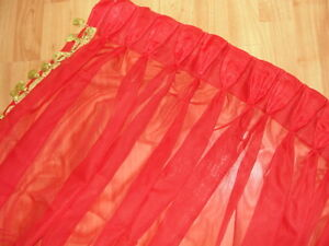 red sheer pinch pleated drapes and valance Peterborough Peterborough Area image 3