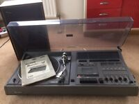 Old style music centre - turntable, cassette deck, speakers and radio