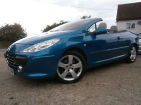 07 PEUGEOT 307 CC 2.0HDi TURBO DIESEL CONVERTIBLE SPORT 1 LADY DOCTOR OWNER
