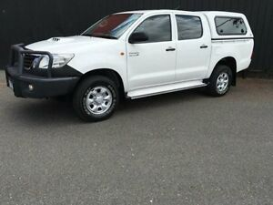 2012 Toyota Hilux KUN26R MY12 SR Glacier White 4 Speed Automatic 4D Utility Moorabbin Kingston Area Preview
