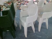 100 Garden chairs £2 each