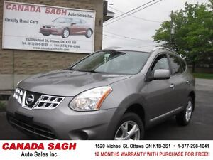 2011 Nissan Rogue AWD, LOADED, 12M.WRTY+SAFETY $7990