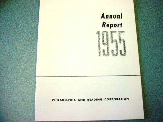 1955 Philadelphia & Reading Corporation Annual Report (Nice Old Anthracite Item)