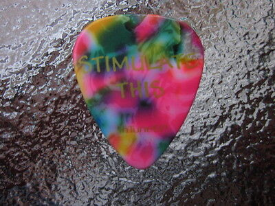 "STAIND  Aaron Lewis Signature ""Stimulate This"" confetti celluloid Guitar pick"