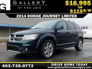 2014 Dodge Journey Limited $119 bi-weekly APPLY NOW DRIVE NOW